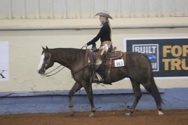Female showing in a ranch pleasure class
